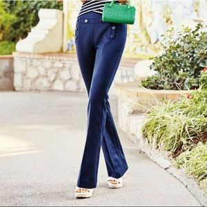 CAbi Salior Navy Blue Pants Mariner Flare Trousers